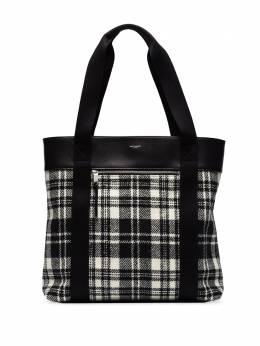 Saint Laurent tartan check pattern tote 634716GKPEE