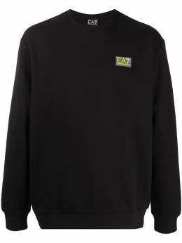 Ea7 logo patch sweatshirt 6HPM92PJ07Z