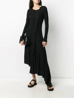 Yohji Yamamoto трикотажное платье асимметричного кроя NRT29170
