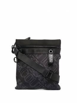 Versace Jeans Couture logo print messenger bag E1YZBB5171743