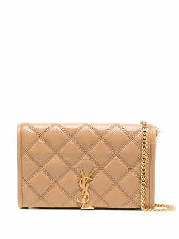 Saint Laurent small quilted monogram wallet-on-chain 5850311D319