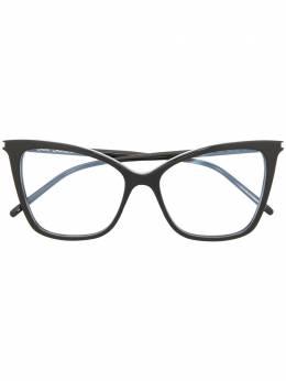 Saint Laurent Eyewear очки в оправе 'кошачий глаз' SL386005