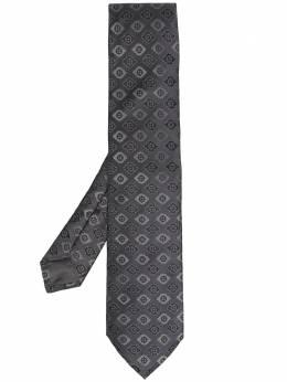 Kiton галстук с геометричным принтом 22588