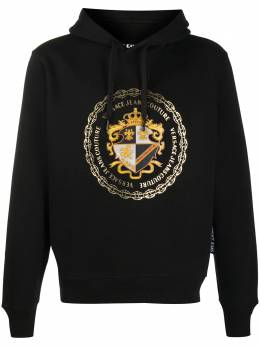 Versace Jeans Couture logo print drawstring hoodie EB7GZB7EFE30406