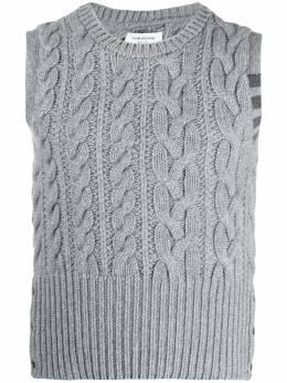 Thom Browne кашемировый жилет фактурной вязки MKV045A00011