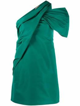 No. 21 платье мини с открытыми плечами и сборками 20IN2M0H0815844