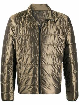 Fay metallic-effect zipped jacket NAM22410290SFKS400
