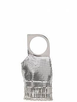 Paco Rabanne декорированный клатч Op'Art 20HSS0208MET067