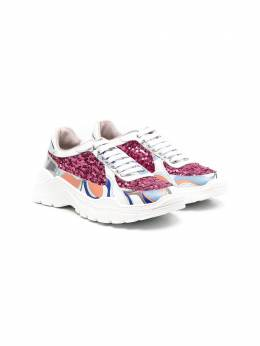 Emilio Pucci Junior panelled chunky sole sneakers 9N0246NX460