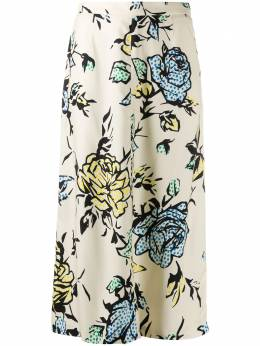 Red Valentino dotted floral pattern skirt UR0RA1F05DW