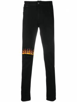 Vision Of Super slim-fit flame patch jeans VOSB17FLAME