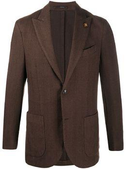 Lardini однобортное пальто с узором шеврон IM305AV25IMR55205
