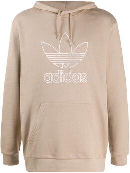 Adidas beige logo hoodie GF4102