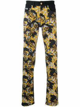 Versace Jeans Couture barocco print straight leg jeans A2GZA0SMSP900