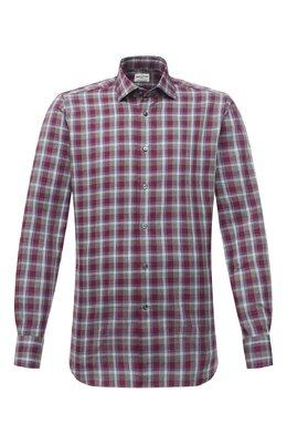 Хлопковая рубашка Bagutta 380_EBL/10551