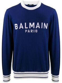 Balmain logo knitted jumper VH1KD006K012
