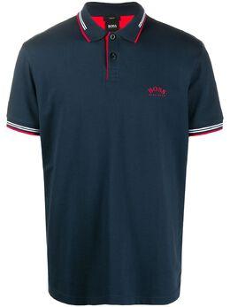 Boss by Hugo Boss logo print polo shirt 50412675
