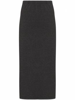 Our Legacy ribbed-knit midi skirt W4206RD
