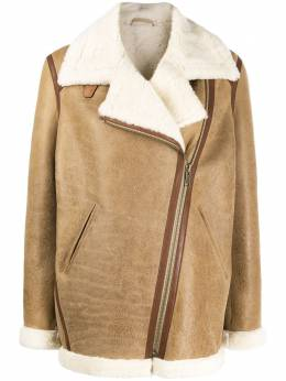 Isabel Marant leather-trim oversized jacket MA083820A013E