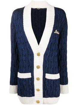 Balmain cable knit cardigan UF03496K202