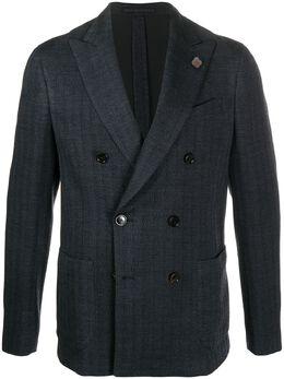 Lardini chevron double-breasted suit IMLKJ2EIM55037