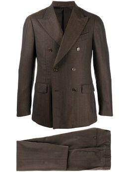 Lardini slim double-breasted suit IM98331E7IMI55456