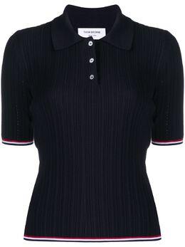 Thom Browne рубашка поло с полосками RWB FKP051A00219