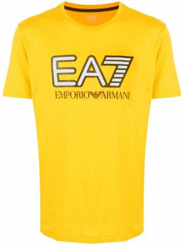 Ea7 yellow logo t-shirt 6HPT81PJM9Z