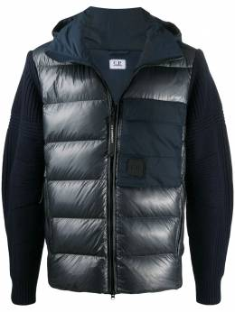 C.P. Company knitted-back puffer jacket MKN175A004306M
