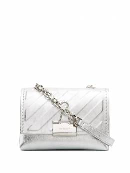 Off-White mini Diagonal Binder Clip bag OWNA121F20LEA0027200
