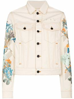 Off-White floral-print denim jacket OWEA246G20FAB001