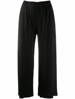 Pleats Please Issey Miyake black pleated trousers PP08JF424