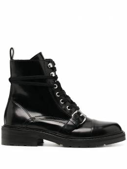 Allsaints lace-up leather ankle boots DONITAWF802P