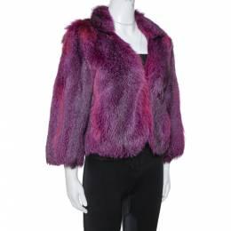 Etro Purple Fox Fur Jacket M 348685