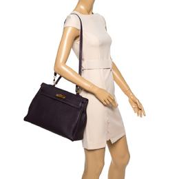 Hermes Raisin Togo Leather Gold Hardware Kelly Retourne 35 Bag 348830