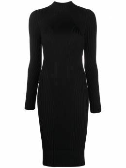 Versace Jeans Couture ribbed knit fitted dress B4HZB80820453