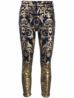 Versace Jeans Couture baroque print skinny jeans A1HZB0XGAPW6Z