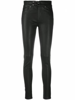 Iro buckled leather trousers WM23FORNBLA01