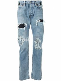 Takahiromiyashita The Soloist ripped denim jeans SMD0001AW20