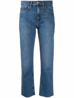 Iro mid-rise cropped jeans 20WWP22HYPNOSISBLU78
