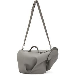 Loewe Grey XL Elephant Bag B623A10X01