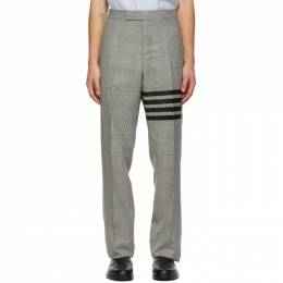 Thom Browne Black and White Houndstooth 4-Bar Trousers MTC001A-06392
