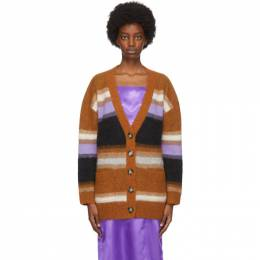Acne Studios Multicolor Fluffy Alpaca Cardigan A60173-