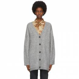 Acne Studios Grey Wool and Mohair Cardigan A60181-
