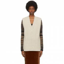 Acne Studios Beige Wool and Silk Vest A60191-