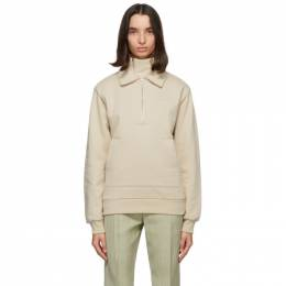 Jacquemus Beige Fleece Le Double Sweat Zip Hoodie 206JS06-206 219800