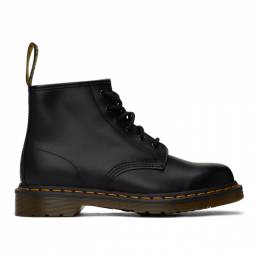 Dr. Martens Black 101 Smooth Lace-Up Boots 26230001