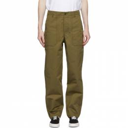 Maison Kitsune Khaki Worker Trousers FM01119WW0027