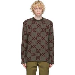Maison Kitsune Multicolor Wool Monogram Sweater FU00534KT1016