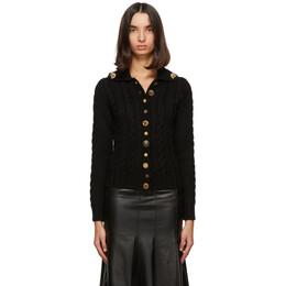 Loewe Black Wool Gold Button Cardigan S540Y16K08